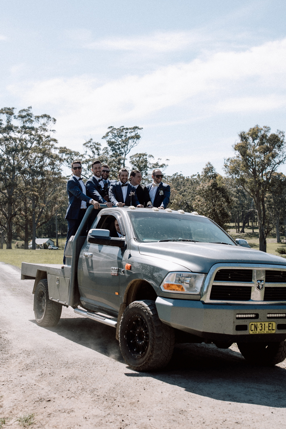 wedding truck at worrowing jervis bay