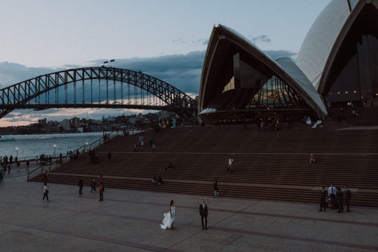 wedding videographer sydney opera house wedding photo