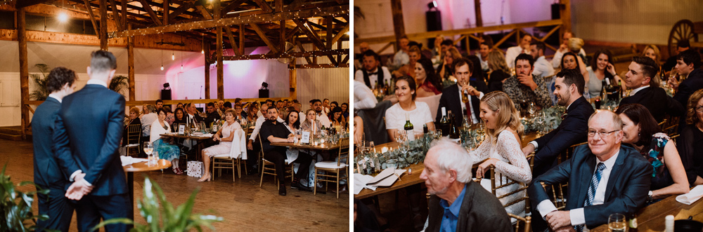 speech of groomsmen at woolshed wedding