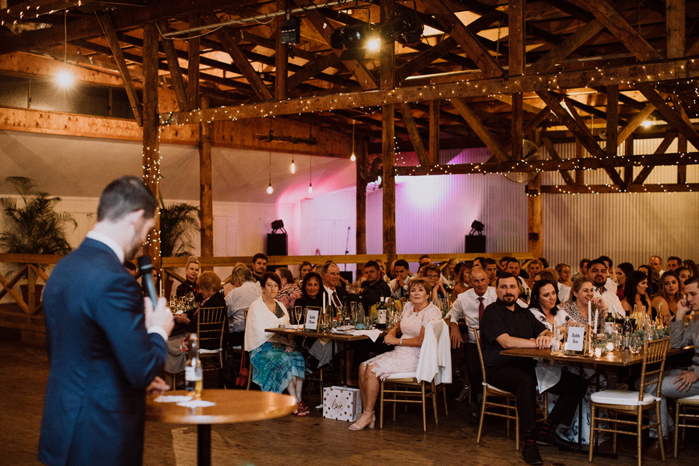 grooms speech at the woolshed wedding venue